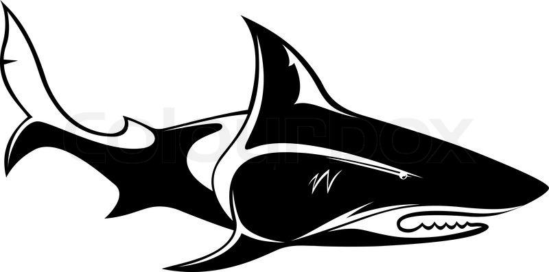 800x397 The Vector Image Of A Shark, Orca, Whale Stock Vector Colourbox