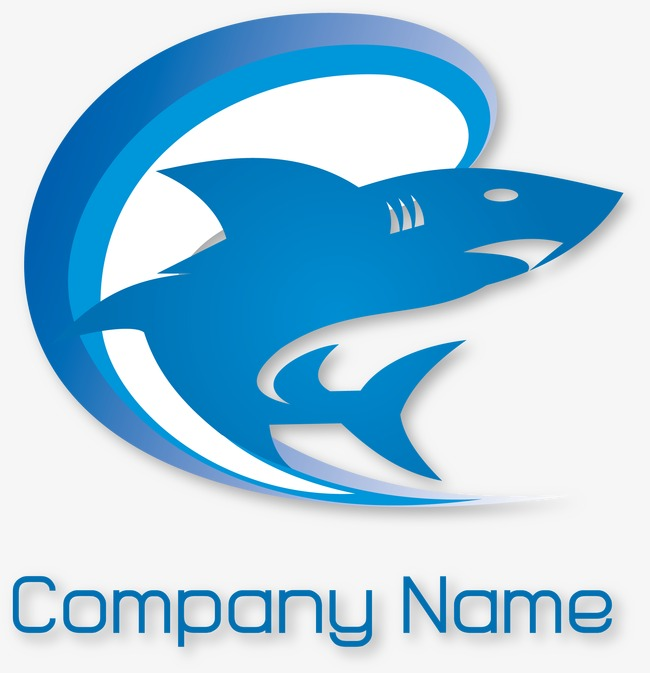 650x673 Decorative Pattern Vector Blue Shark Logo, Pattern Vector, Blue