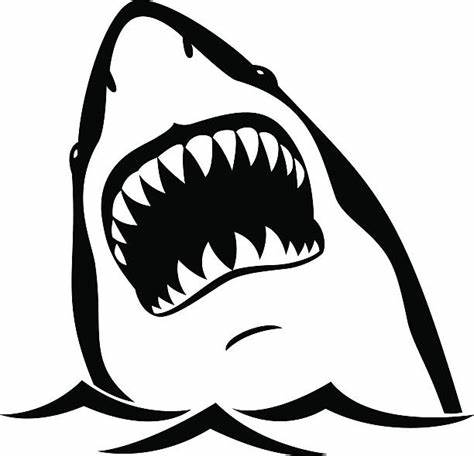 474x456 Shark Mouth Clipart Black And White. Shark Clip Art Vector Images