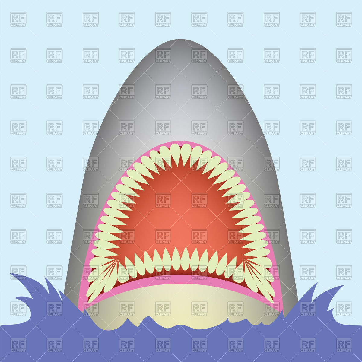 1200x1200 Shark Open Mouth Vector Image Vector Artwork Of Plants And