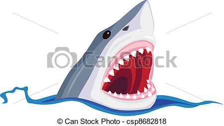 450x254 Vector Illustration Of Angry Shark.
