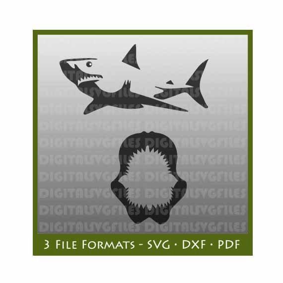570x570 Digital File Sharks Sharks Svg Shark Dxf Shark Vector Art Etsy
