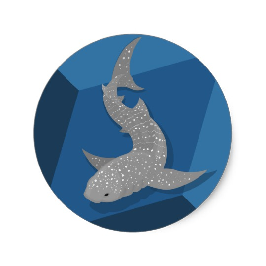540x540 Geometric Whale Shark Vector Art Stickers