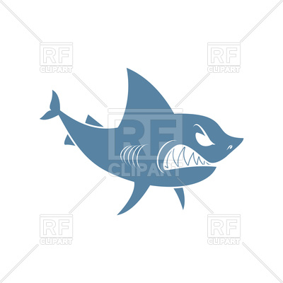 400x400 Shark Isolated On Blue Vector Image Vector Artwork Of Plants And