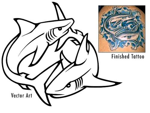 500x375 Sharks Vector Art Collection