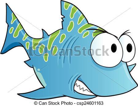 450x346 Blue Tough Shark Vector Art. Blue Tough Shark Vector Illustration Art.