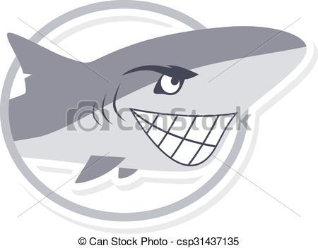 450x352 Cartoon Cute Shark Fish Theme Vector Art Illustration.