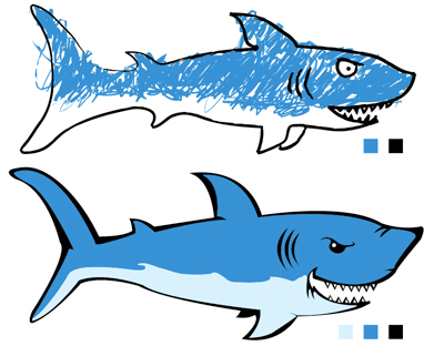391x312 2 Sharks Vector Free Vector Download In .ai, .eps, .svg Format