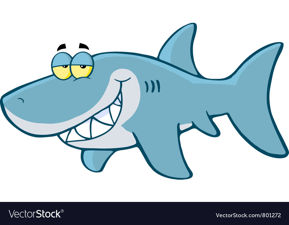 1000x780 Shark Vector Free Download Happy Shark Royalty Free Vector Image