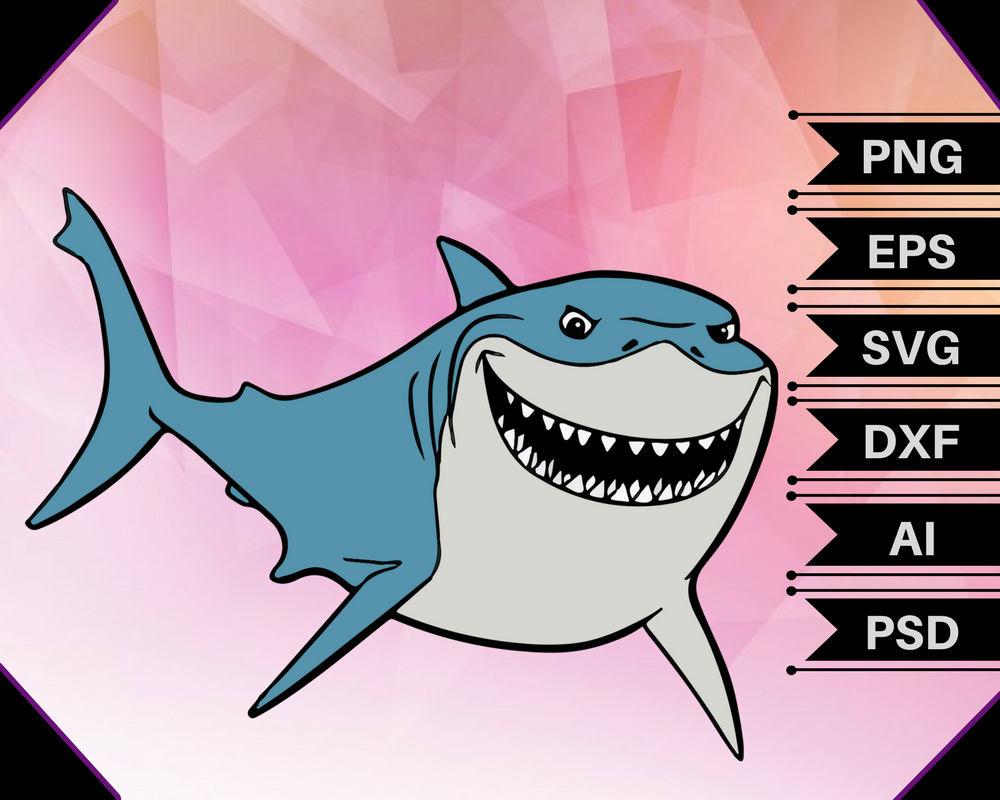 1000x800 Bruce Shark Svgbruce Shark Vectorfinding Nemo Svgfinding Etsy