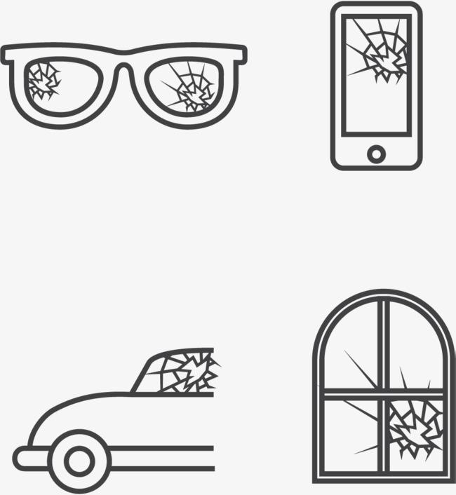 650x706 Cracked Glasses, Glasses Vector, Shattered, Fragmentation Png And