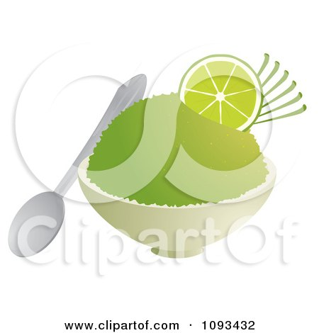 450x470 Clipart Bowl Of Lime Shaved Ice
