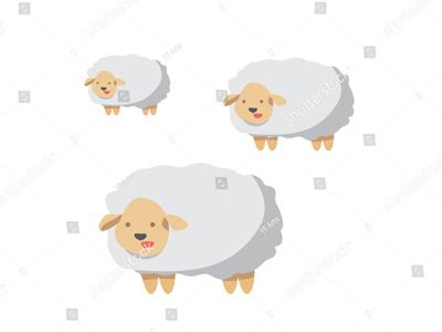 400x300 Farm Country Sheep Vector Art By Yf Arts