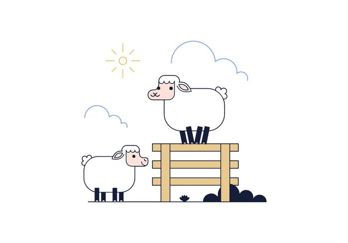 700x490 Free Sheep Vector
