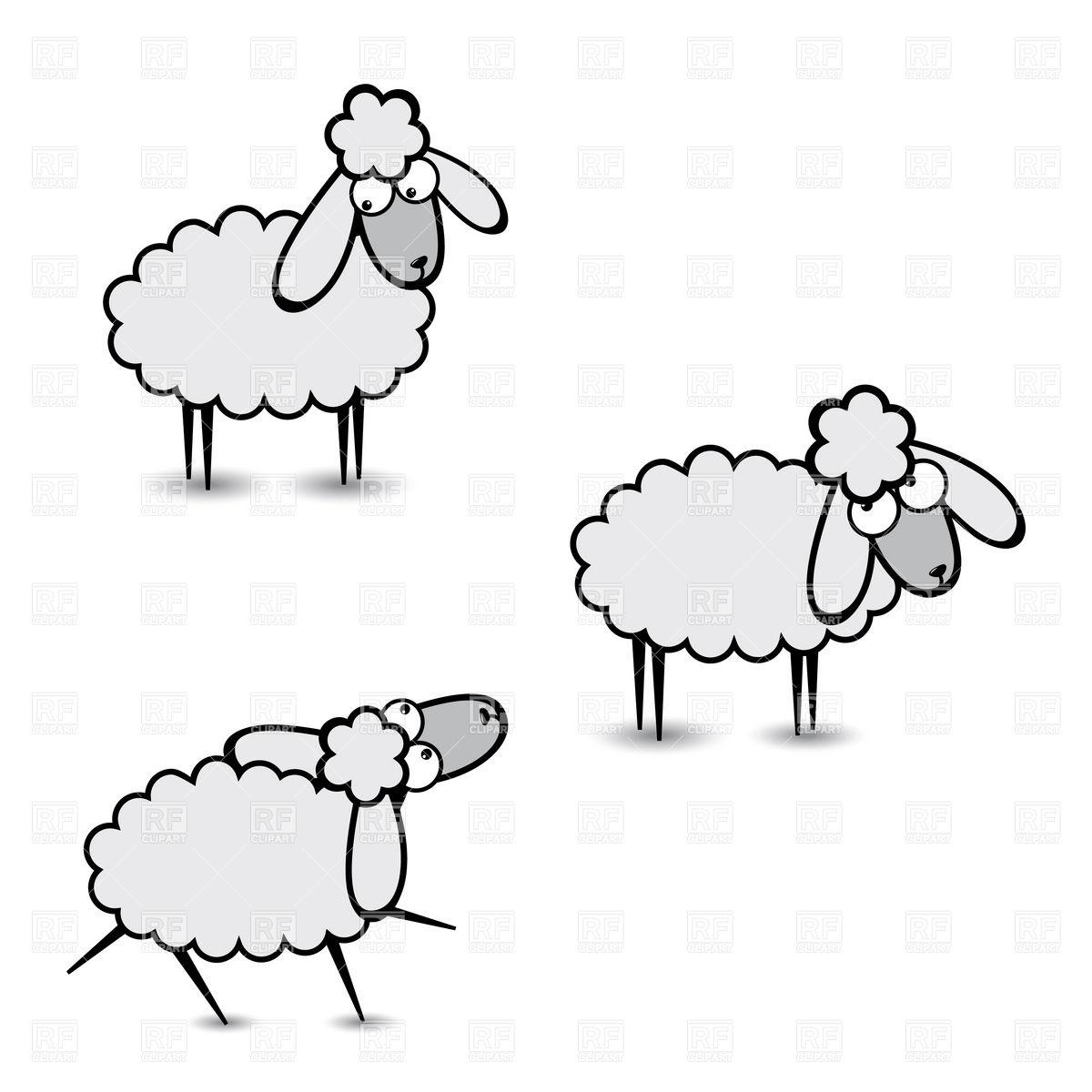 1200x1200 Funny Cartoon Sheep Character Vector Image Vector Artwork Of