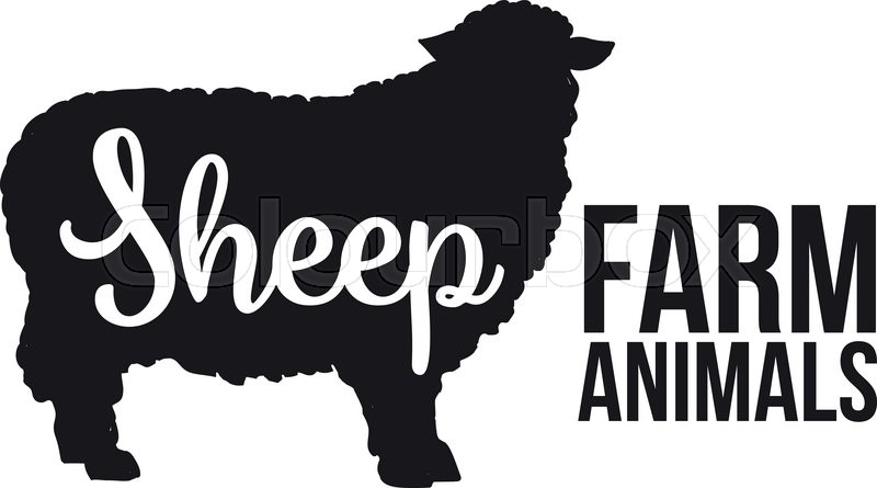 800x445 Black Contour Farm Animal With A White Lettering Inscription