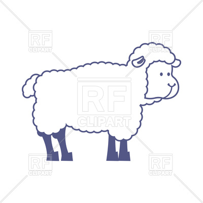 400x400 Sheep Isolated Animal On White Background Vector Image Vector