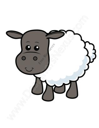 316x409 V9 Cute Sheep Vector Graphic Lamb Clip Art