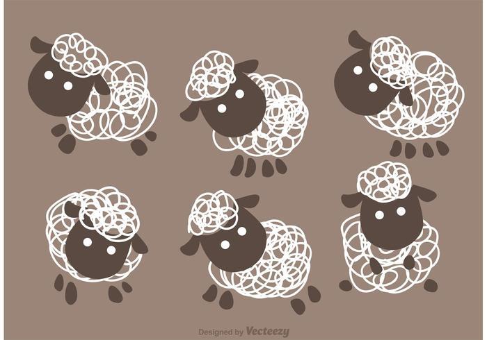 700x490 Funny Sheep Vector