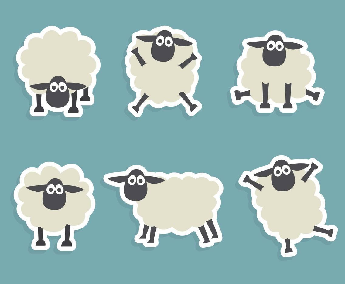 1136x936 Funny Sheep Vector Set Vector Art Amp Graphics