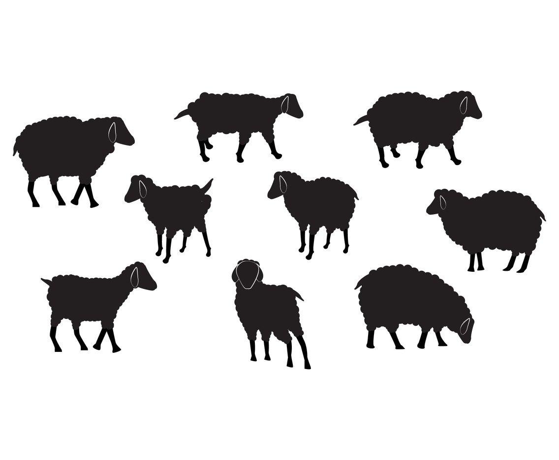 1136x936 Sheep Vector Set Silhouette Vector Art Amp Graphics