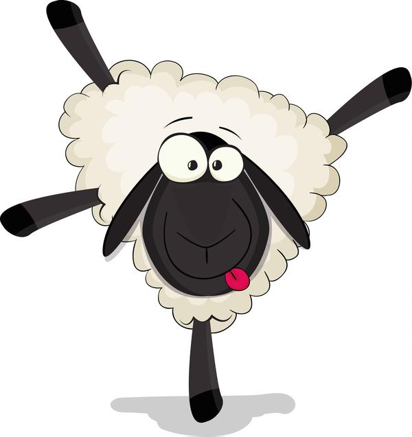 600x637 Cartoon Cute Sheep Vector Free Download