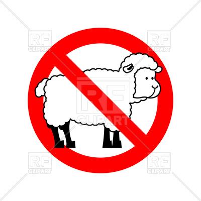 400x400 Stop Sheep Sign