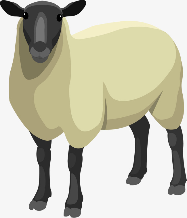 650x756 Vector Hand Painted Sheep, Sheep Vector, Vector, Hand Painted Png