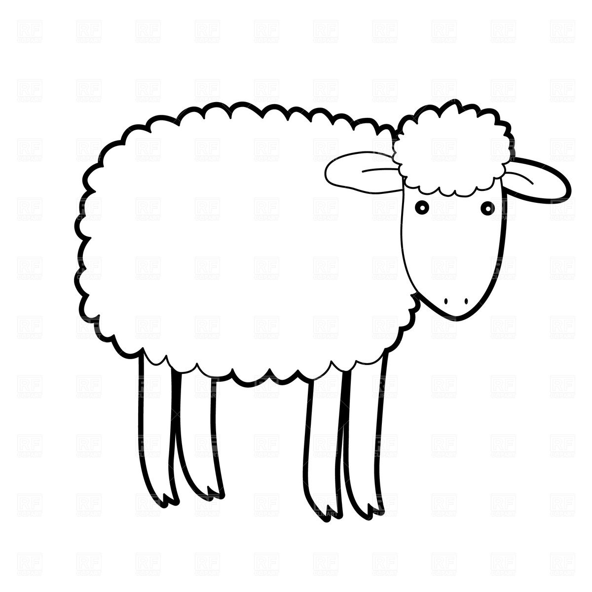 1200x1200 Cartoon Sheep Vector Image Vector Artwork Of Plants And Animals