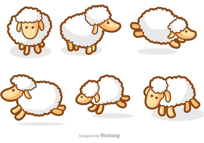 700x490 Cute Sheep Vectors
