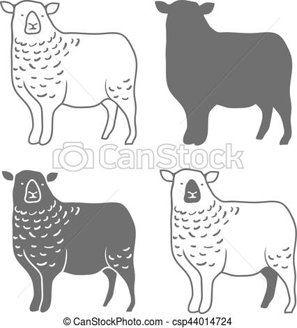 426x470 Domestic Animal Sheep Vector. Domestic Animal Sheep Design