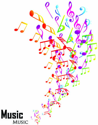 344x440 Elements Of Sheet Music And Music Design Vector Free Vector In