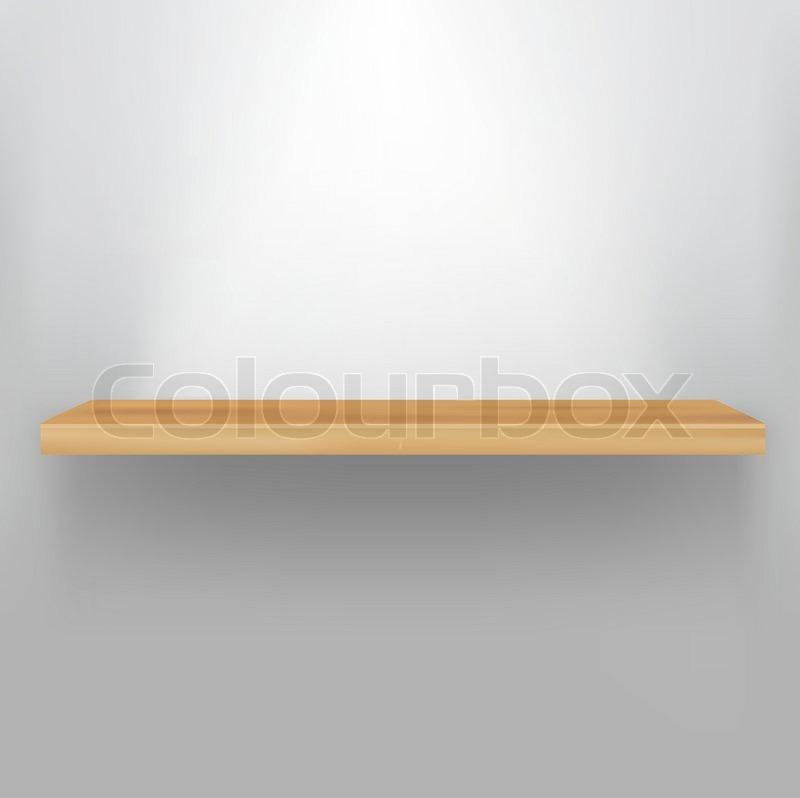 800x798 Empty Wood Shelf, Vector Illustration Stock Vector Colourbox