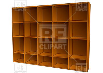 400x283 Empty Book Shelf Vector Image Vector Artwork Of Objects Arkela