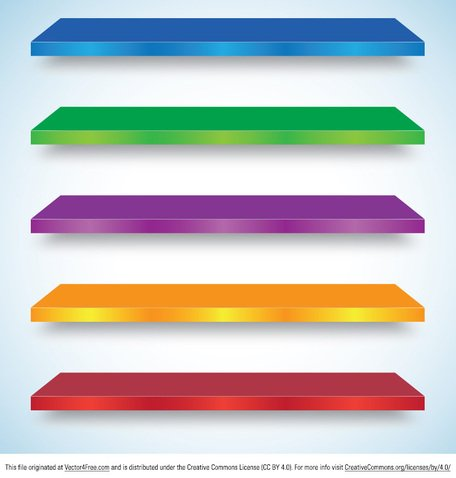 456x478 Free Colorful Shelf Vectors Clipart And Vector Graphics