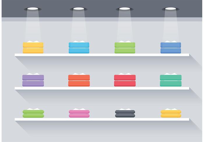 700x490 Free Flat 3d Shelves Vector