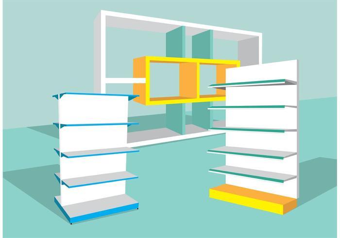 700x490 3d Shelves Vector