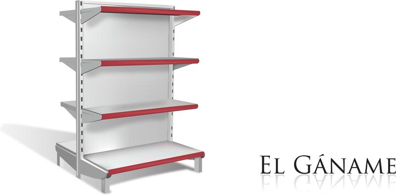 800x395 Supermarket Shelves Vector