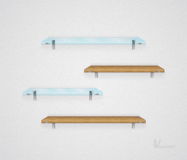 600x514 Create A Simple Set Of Vector Shelves
