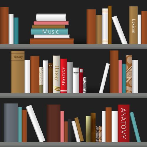 500x500 Creative Book Shelf Vector Design 06 Free Download