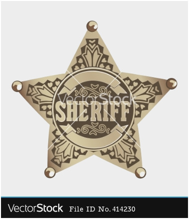 380x440 Sheriff Badge Vector Free Awesome 20 Police Star Vector Sheriff