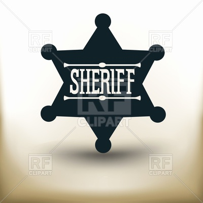400x400 Sheriff Badge Clipart Black And White New Sheriff Star Badge On