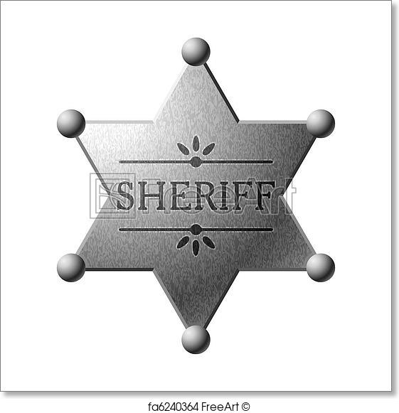 561x581 Free Art Print Of Sheriff Badge. Vector Illustration Of A Sheriff