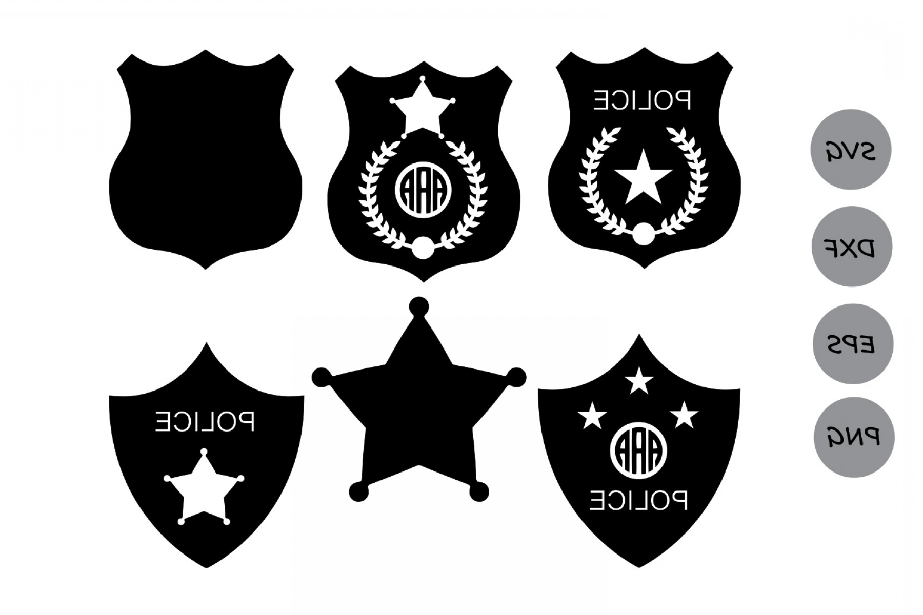1800x1200 Police Badge Svg Police Svg Police Badge Monogram Svg Sheriff Svg
