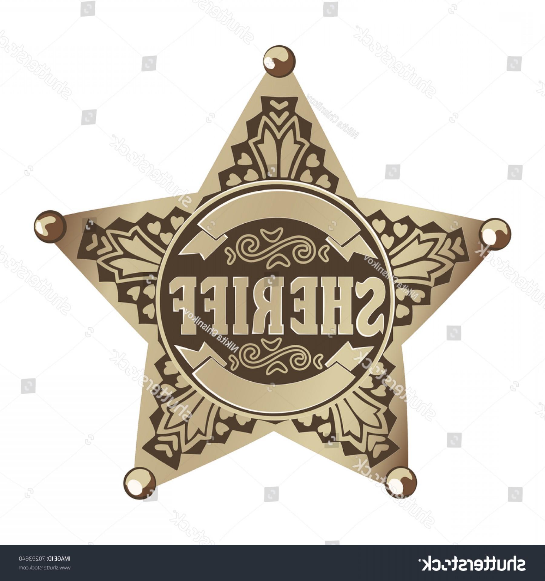1800x1920 Brown Vector Sheriff Star On White Geekchicpro