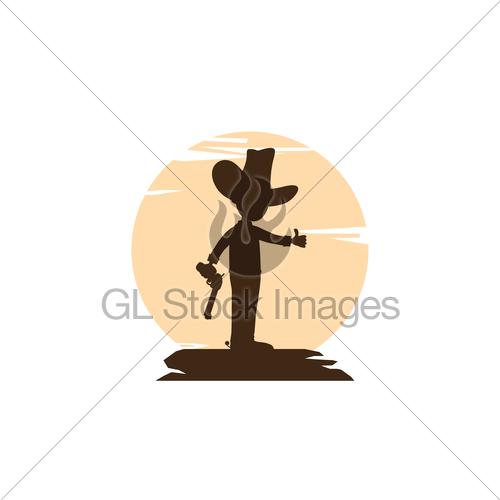 500x500 Sheriff Silhouette Vector Art Logo Gl Stock Images