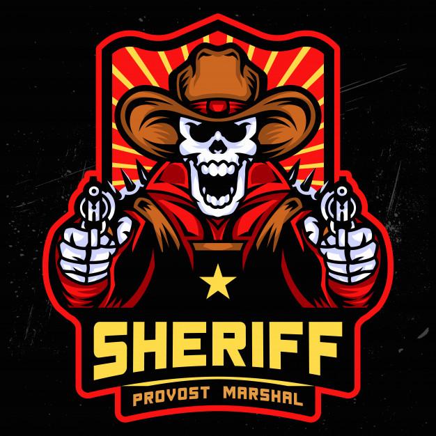 626x626 Sheriff Skull Esports Logo Vector Premium Download
