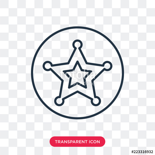 500x500 Sheriff Vector Icon Isolated On Transparent Background, Sheriff