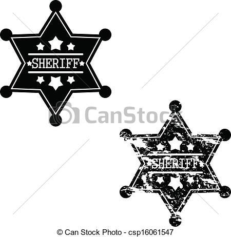 450x462 Two Sheriff Badges. Black Sheriff Badges On White Background.