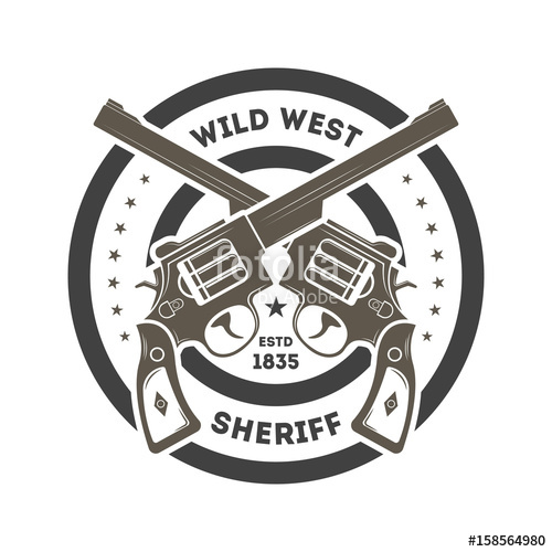 500x500 Wild West Sheriff Vintage Isolated Label Stock Image And Royalty